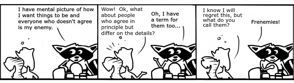 Frenemies Personal Growth Comic - Ratchet & Spin
