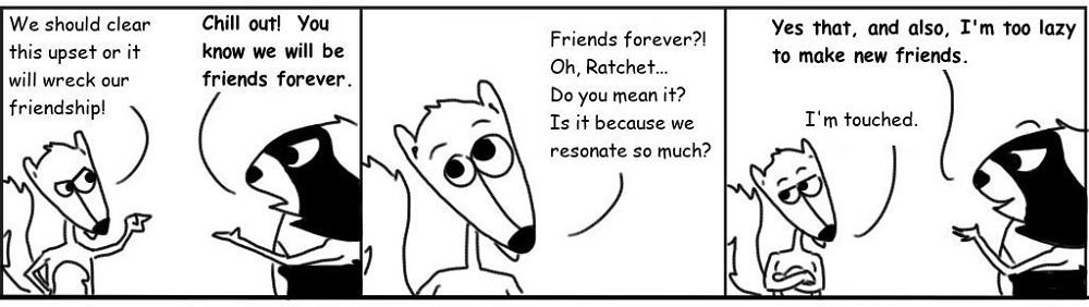 Friends Personal Growth Comic - Ratchet & Spin