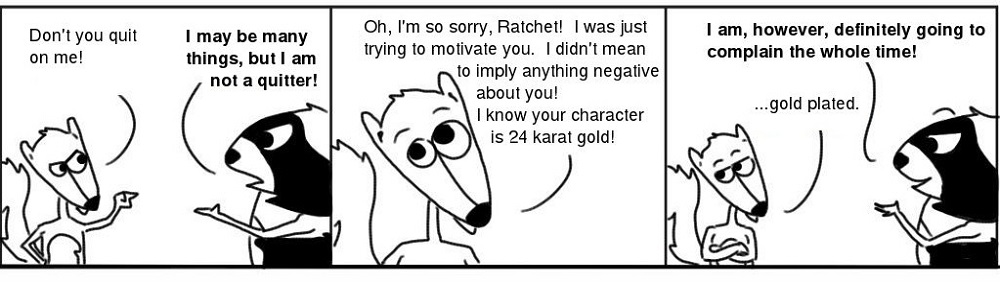 Gold-1 Personal Growth Comic - Ratchet & Spin