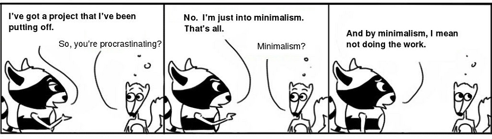 Minimalism Personal Growth Comic - Ratchet & Spin