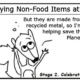 Ratchet & Spin: Stages of Non-Food Items